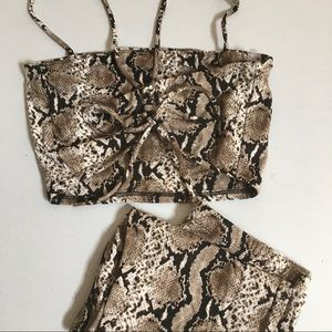 2 piece Snake Print outfit